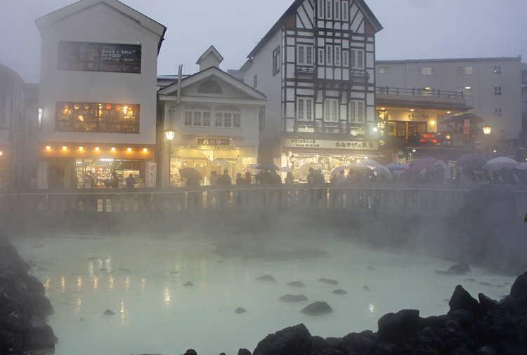 горячие источники Японии